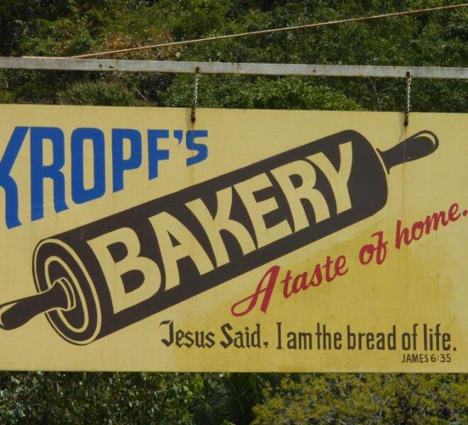 Kropf's Bakery Sign